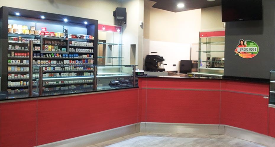 Ristrutturazione chiavi in mano di una tabaccheria acheo for Ristrutturare bancone bar