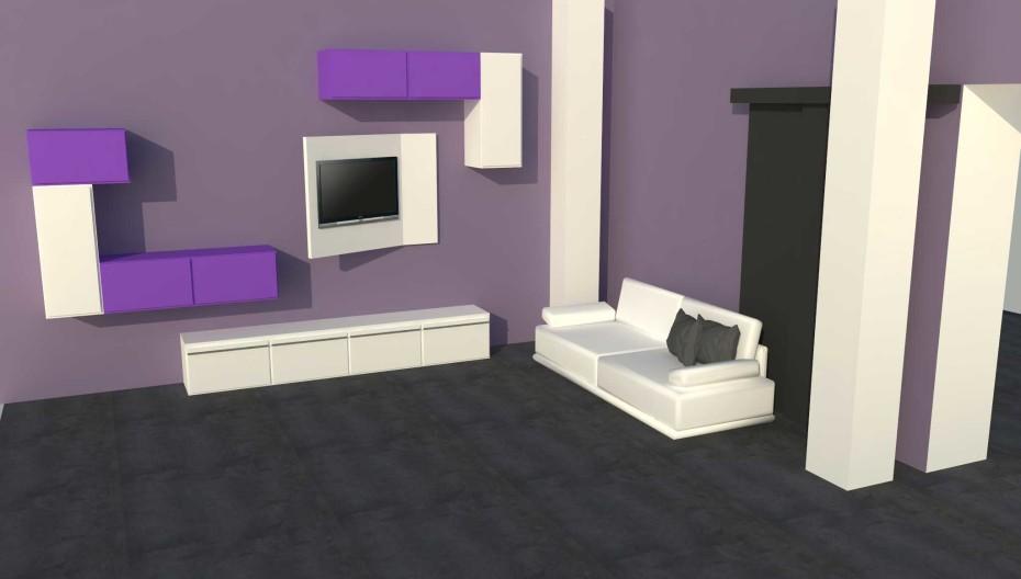 progetto sala per appartamento