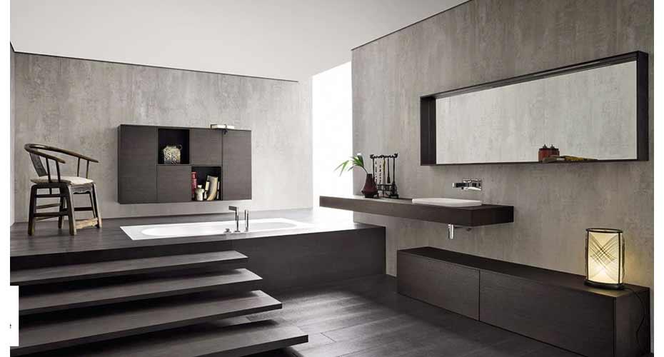 un bagno moderno con vasca a incasso - acheo design - acheo design - Bagni Moderni Con Vasca