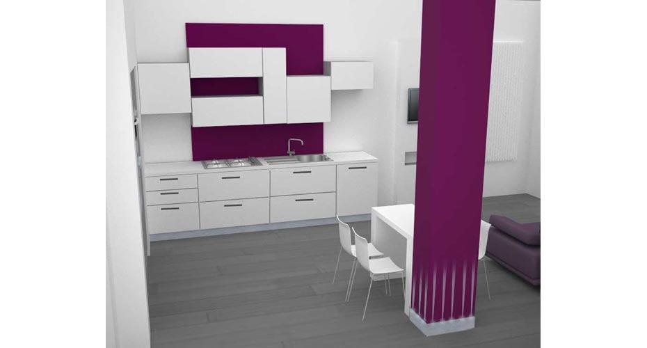 cucina-a-parete-appartamento-funzionale