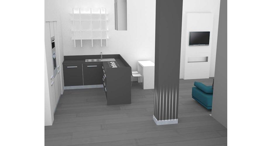 cucina-con-penisola-appartamento-funzionale