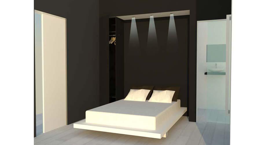 Progetto di un appartamento moderno acheo design - Progetto camera da letto ...