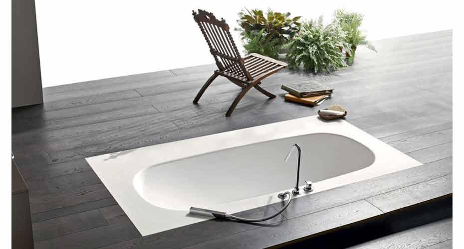 Un bagno moderno con vasca a incasso   acheo design   acheo design