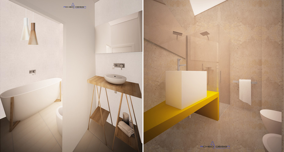 Design Bagno Torino : Progetto area bagno torino acheo design