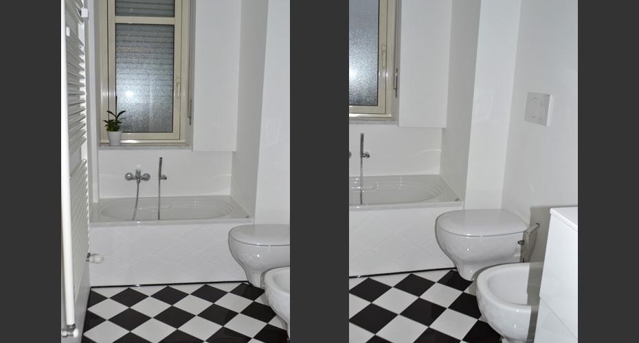 Ristrutturazione integrale di due bagni approfondisci acheo design - Bagni chimici per abitazioni ...