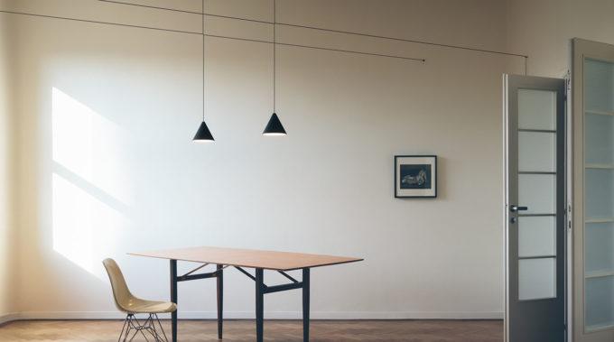 Con le lampade sospese il design si osserva verso l'alto